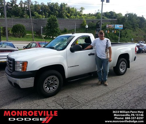 Thank you to Russell Beck on the 2008 GMC Sierra 1500 from Saeler Chance and everyone at Monroeville Dodge! by Monroeville Dodge