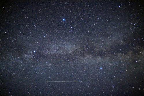 ペルセウス座流星群と夏の大三角