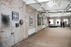 Exhibition in top studio for launch event