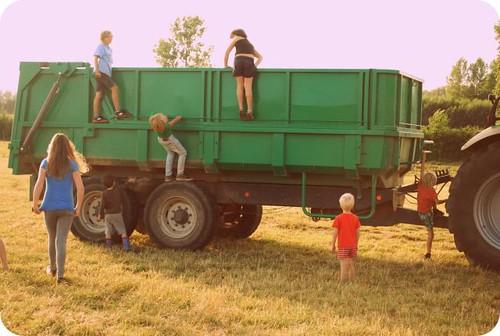 oogst bij tante Hilde