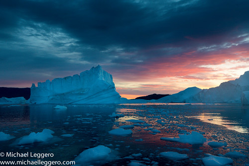 ocean winter sunset sea ice nature sunrise michael europe arctic greenland northamerica iceberg leggero coldtemperature
