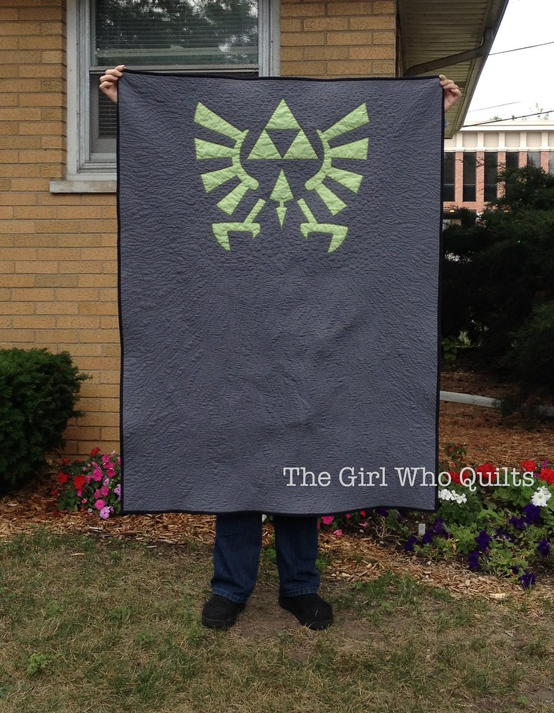 Triforce Quilt for baby Linc!