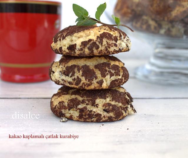 kakao kaplamalı çatlak kurabiye