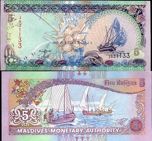 5 Rufiyaa Maldivy 2011