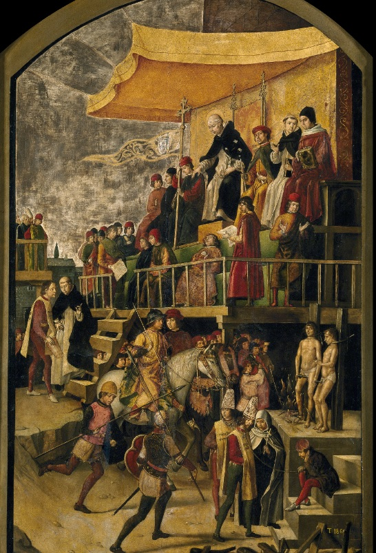 2. Auto de Fe. Obra de Pedro Berruguete. 1495