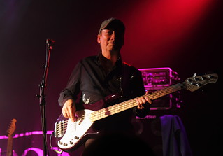 Bob Skeat and his 5 string bass guitar