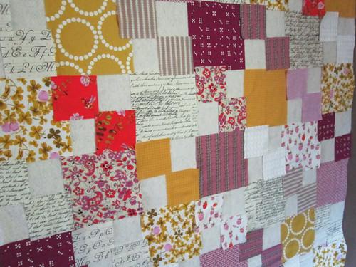 arranging a Penny Patch quilt