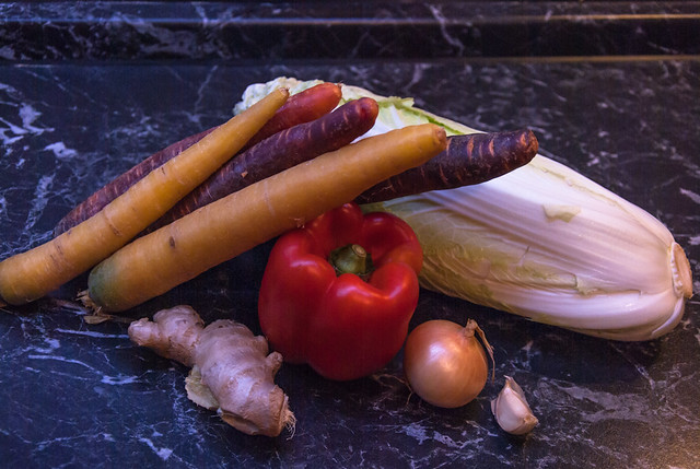 Karotten-Chinakohl-Pfanne