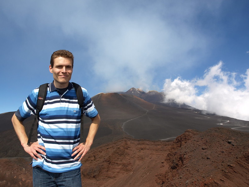 Me in fron of Etna's summit