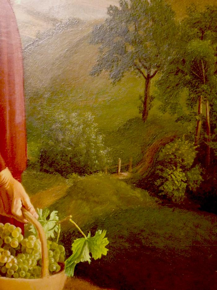 cestino nonna con uva particolare cesarino v