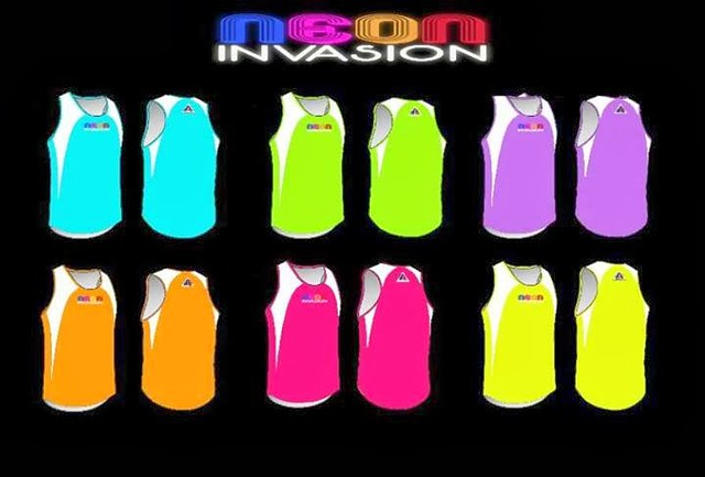 Neon Invasion Fun Run 2013 Singlet