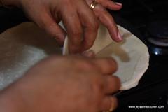 making samosa sheets