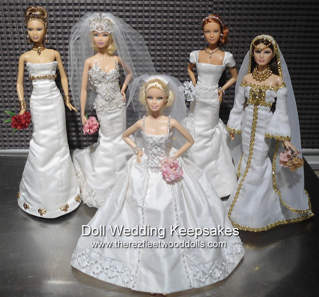 Barbie Dolls Wedding Dresses Custom Made Wedding Dresses