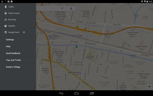 Google Maps for Android tablet