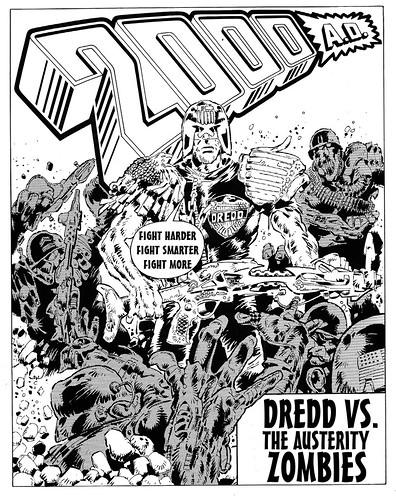 Judge Dredd VS The Austerity Zombies by Teacher Dude's BBQ