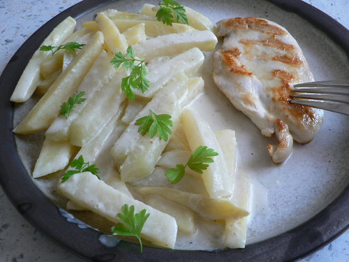 Chicken breast with kohlrabi