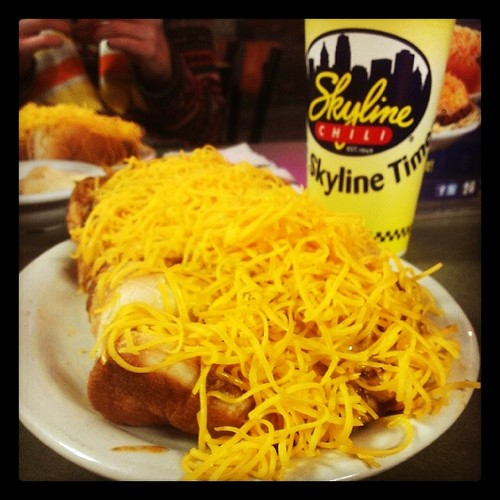 It's @Skyline_Chili time with @genmae5! YUM!