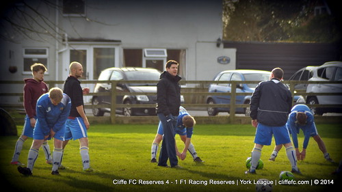 Cliffe FC 2ndXI 4 - 1 F1 Racing Reserves 25Jan14