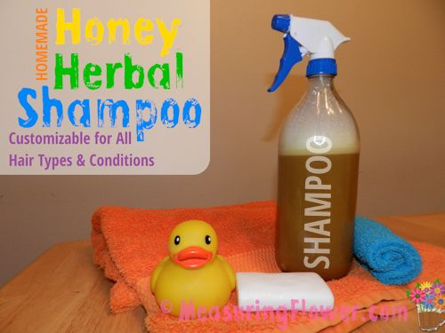 homemade honey herbal shampoo