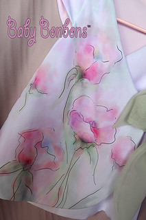 Close up of toddler Wrap Dress, Enchanted Garden by Rosanna Hope for Babybonbons