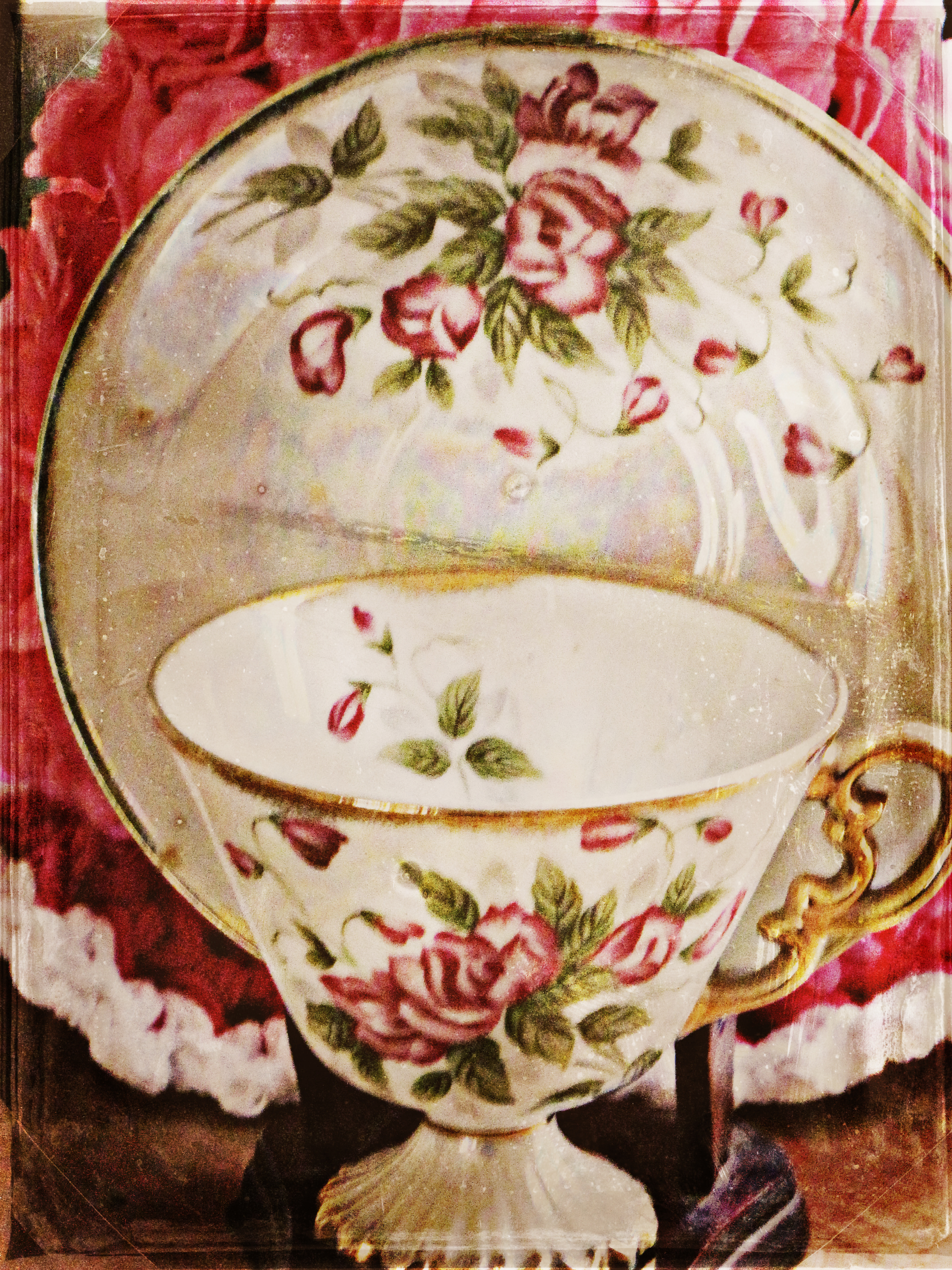 sweet pea tea cup