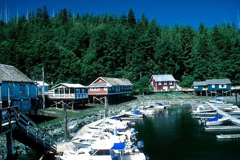 Historic Boardwalk Village of Telegraph Cove, Vancouver Island, British Columbia, Canada