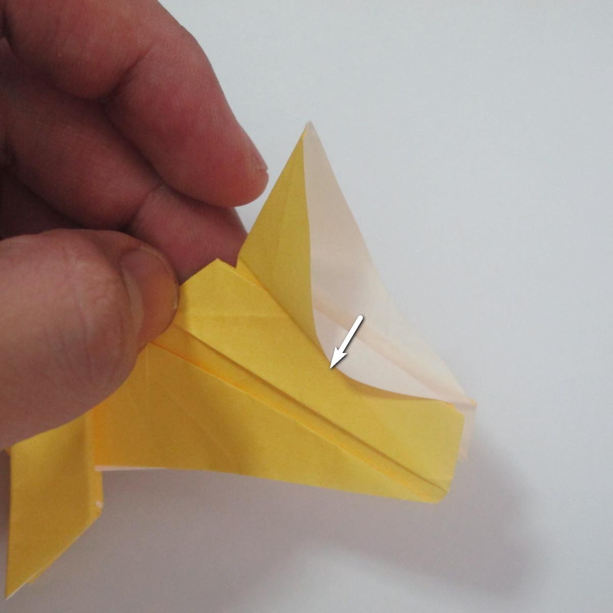 สอนวิธีพับกระดาษเป็นรูปลูกสุนัขยืนสองขา แบบของพอล ฟราสโก้ (Down Boy Dog Origami) 109