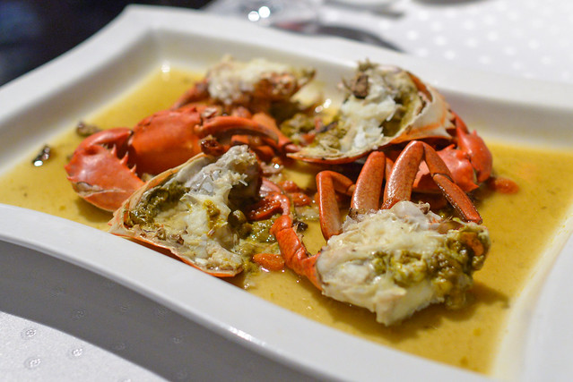 steamed crab roe