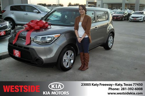 Thank you to Sonia Messina on your new 2014 #Kia #Soul from Gil Guzman and everyone at Westside Kia! by Westside KIA