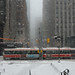 heavy snow in downtown by artland