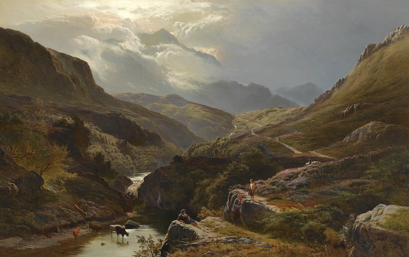 Sidney Richard Percy - On the road to Loch Turret, Crieff (1868)