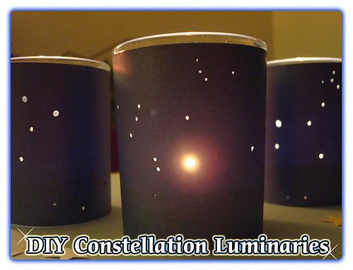 DIY Constellation Luminaries