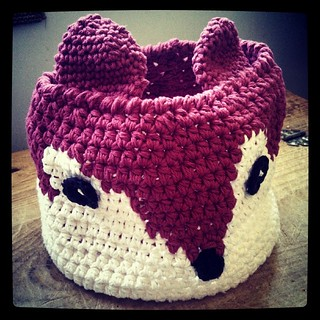 I love my #crochet #fox #basket that my Mom made for me! Planning to use it as a #knittingbag basket for my projects. Than