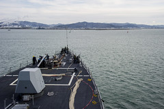 USS McCampbell (DDG 85) arrives in Ishinomaki, March 10.