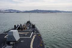 USS McCampbell (DDG 85) arrives in Ishinomaki, March 10.