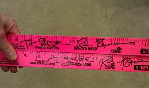 Ron and Raven Signed Yard Sticks