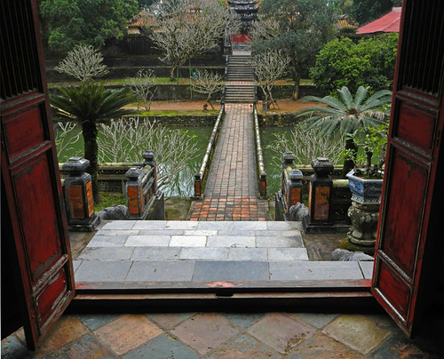 Minh Mang Tomb in Hue: Doors Leading Out into the Garden