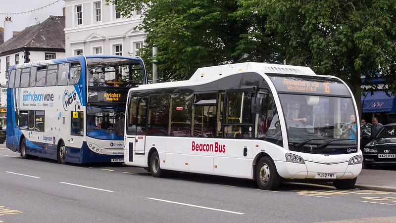 Beacon Bus YJ62 FHY on route 16 in Bideford, Devon