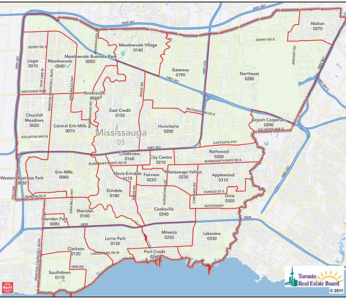 Mississauga MLS District Map