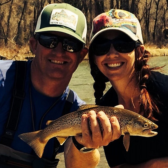 Matt and Heather enjoying a warm sunny spring day on the South Fork. #idaho #flyfishing #spring #instapic #instaphoto #picoftheday #river #fun #love #sun