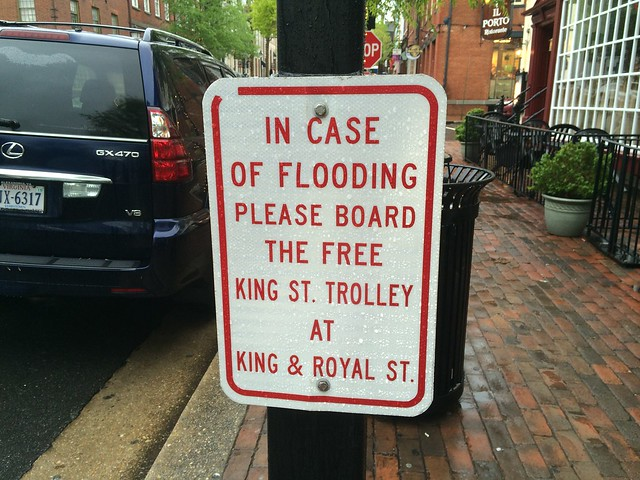 Flooding in Old Town Alexandria, Virginia - April 30, 2014
