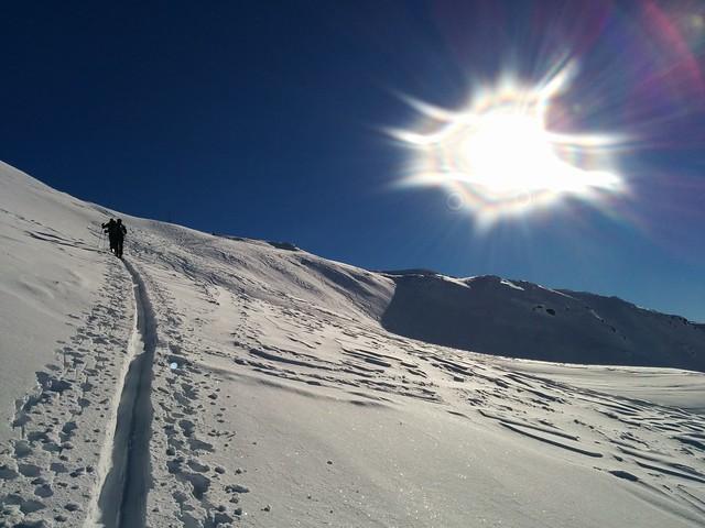 Gipfelkreuz der Kreuzspitze ist bereits in Sicht