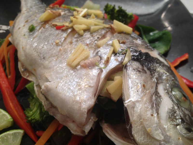 how to cook sea bream in foil