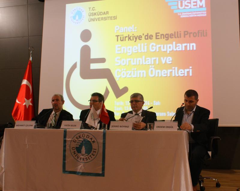 Engelli Sorunları Üsküdar Üniversitesi'nde Masaya Yatırıldı