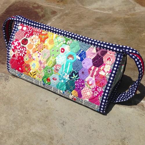 Rainbow Hexie Sew Together Bag