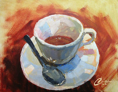 Coffee-painting