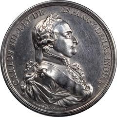Lot 20 Carlos IV Al Merito Y Fidelidad Medal obverse