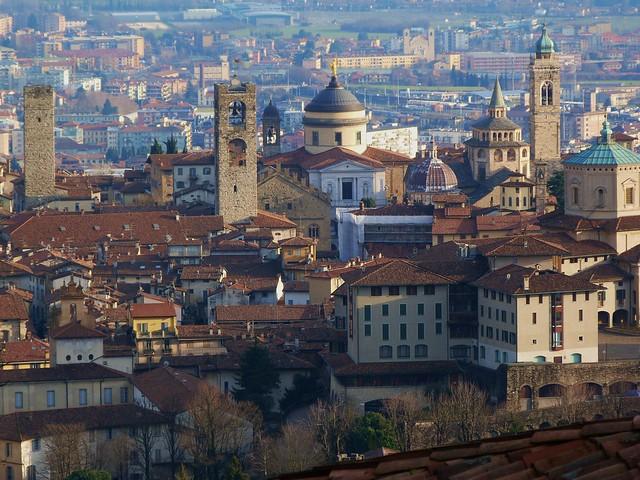 Vista de Bérgamo desde el Castillo de San Vigilio