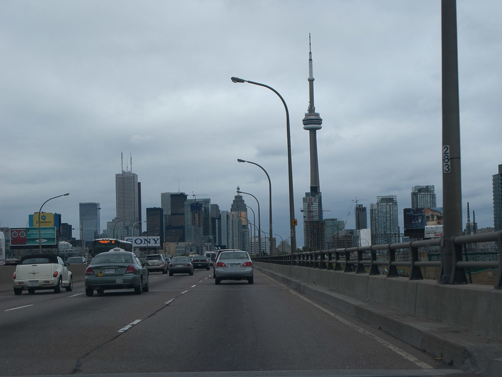 CN Tower in Toronto from Highway