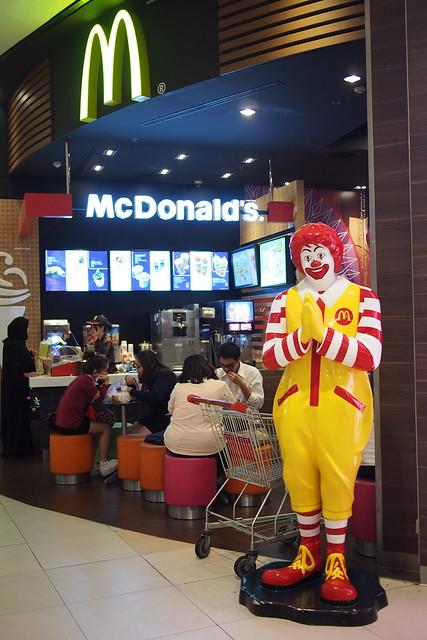 Ronald McDonald says sawadeekup, Bangkok, Thailand
